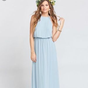 Show Me Your MuMu Heather Halter Dress small